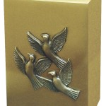 Cube Bursh Brass w birds